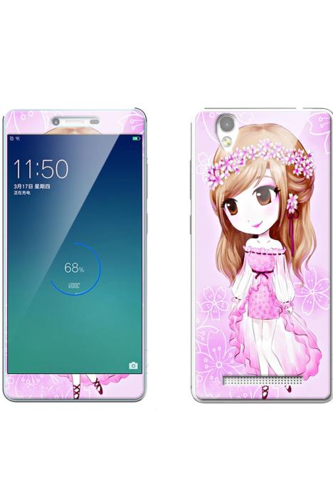 金立f103手机壳加钢化膜金立F103钢化彩膜加同款彩绘壳 -配饰 3C数