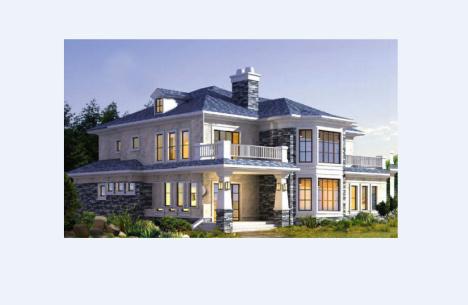 二层欧式小别墅设计图纸 新农村自建房屋建筑楼房全套施工图大气