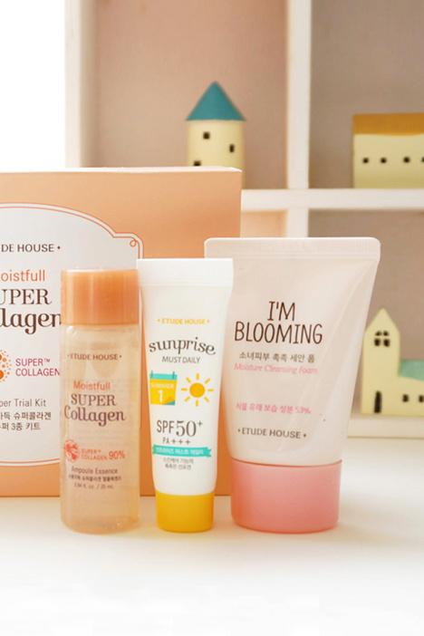 韩国 爱丽小屋少女肌肤护肤套装 精华 防晒 洗面奶 -美妆 面部护理套装 图片