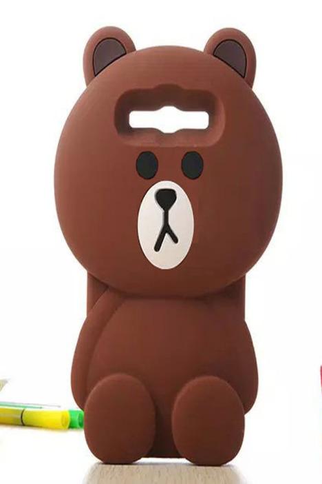 新款布朗熊可爱立体三星s3/s4/g5308手机壳
