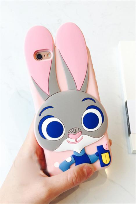 疯狂动物城卡通朱迪兔iphone6plus苹果6s硅胶手机壳