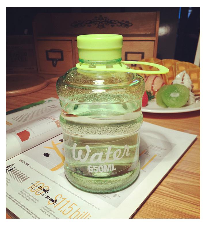 韩国创意个性水瓶饮水机水桶塑料水杯子学生运动便携小水杯男女夏