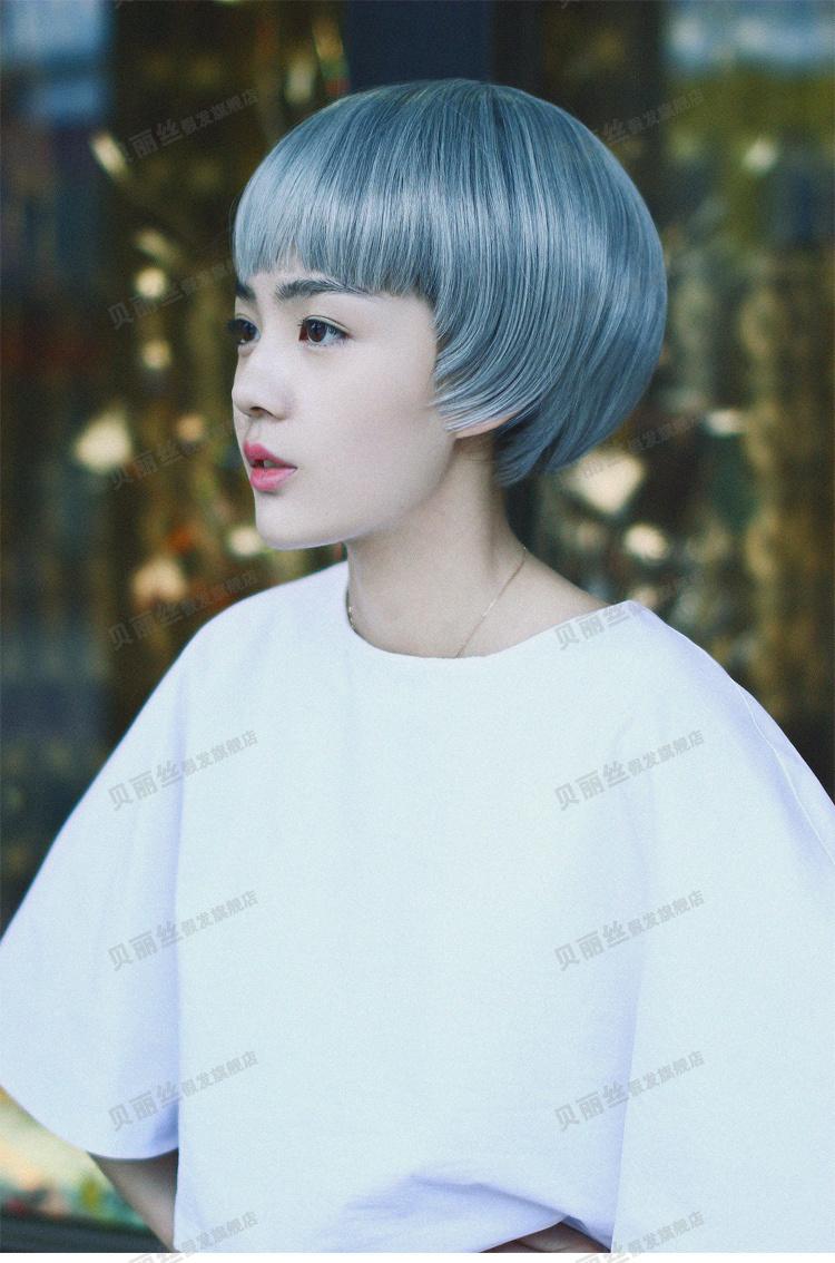【韩国假发女短发蘑菇头蓬松短发卷发时尚女生bobo头
