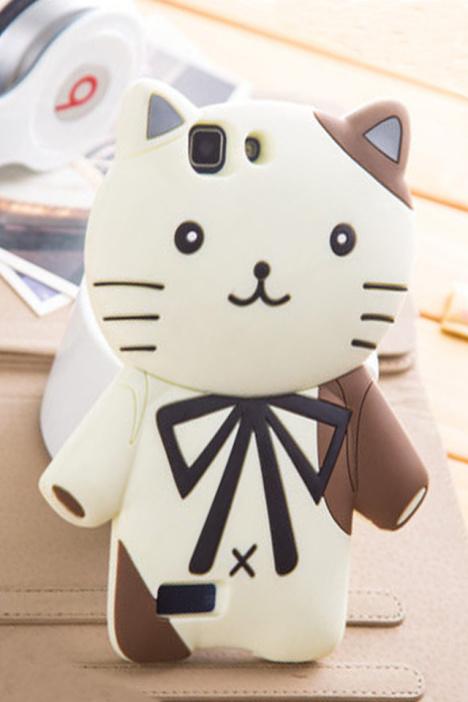vivo x3l/x3f/x3v卡通绅士猫可爱硅胶套