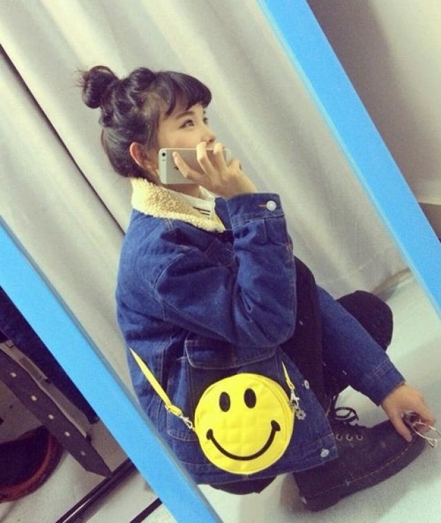 【ulzzang韩国软萌童趣原宿卡通笑脸emoji表情钱包】