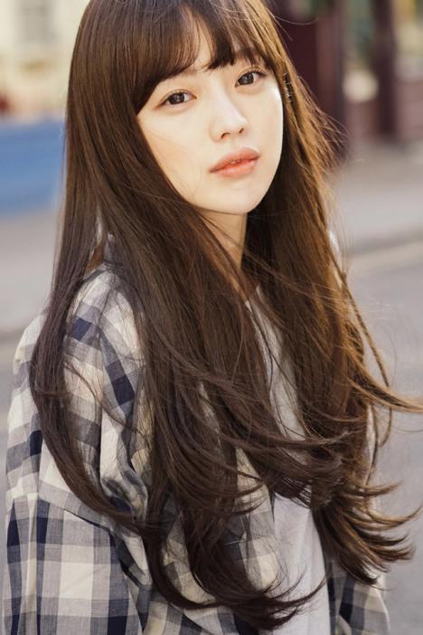 微卷自然层次长发 时尚女齐刘海逼真蓬松高温丝长卷假发图片