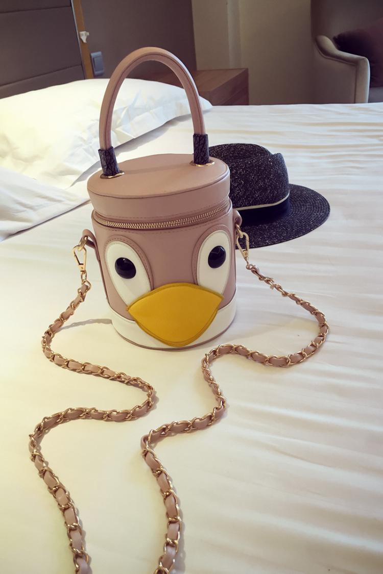 【可爱卡通鸭子水桶包】-包包-女包