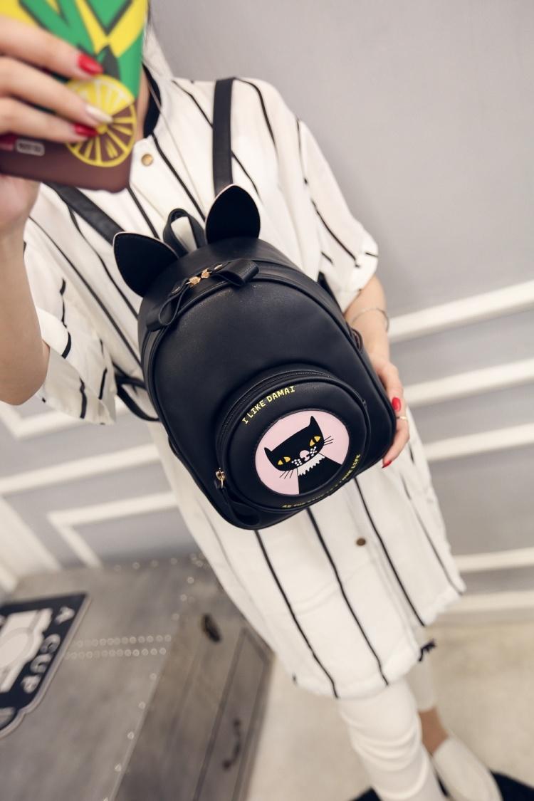 5302016新款时尚迷你小猫咪双肩包