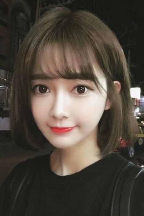 韩国空气刘海图片短发