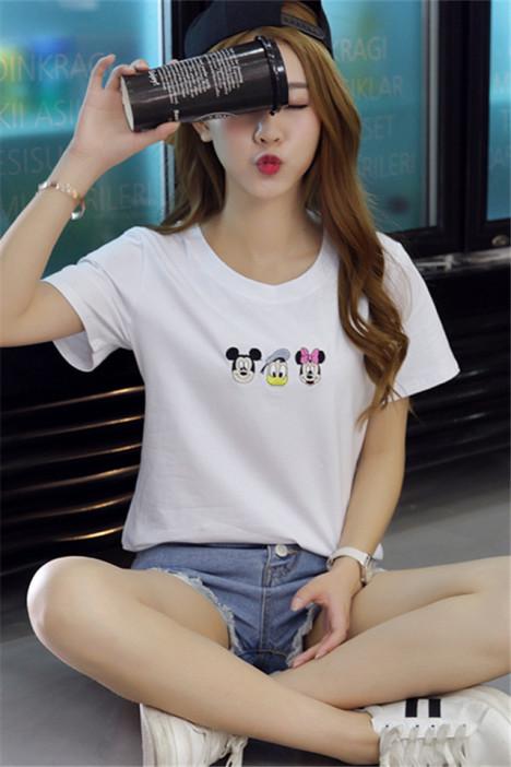 蝶恋沙衣 高圆圆同款卡通印花短袖t恤