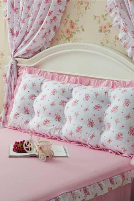 席梦思床头垫被,全棉碎花磨毛,木板床居家,单双人床加厚,纯棉大靠背