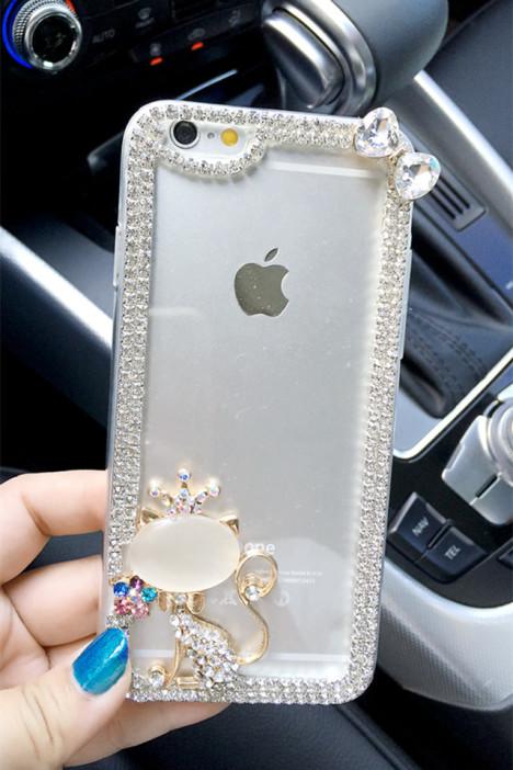 可爱苹果猫咪iphone5656s水钻46plus手机壳证人员培训作业特种设备新疆图片