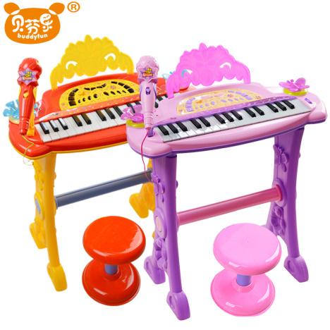贝芬乐儿童电子琴麦克风女孩玩具