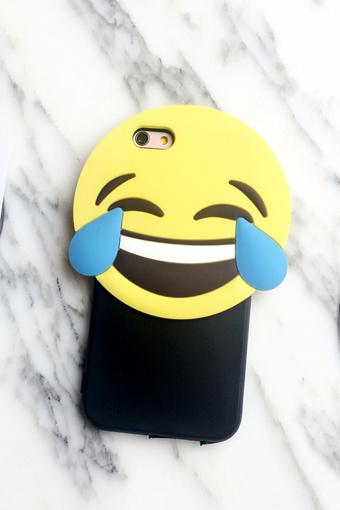 可爱笑脸表情包苹果6p硅胶手机壳iphone6s全包软壳