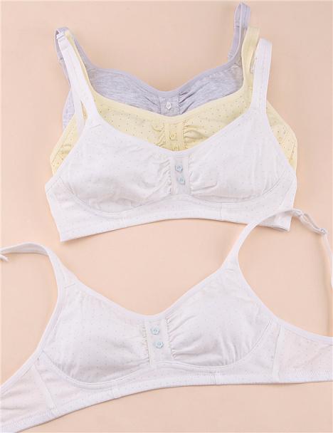 学生夏薄款大码无钢图文胸 少女发育期纯棉内衣