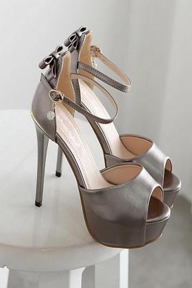 热卖超高跟细跟凉鞋欧美性感宴会水晶鞋防水台14CM高夜店女鞋$