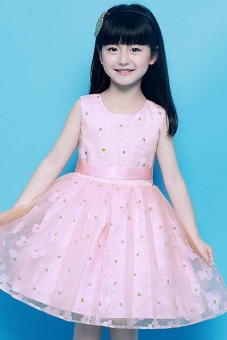 妙妙可心女童连衣裙夏装2016新款儿童公主裙中大童纱裙童装裙