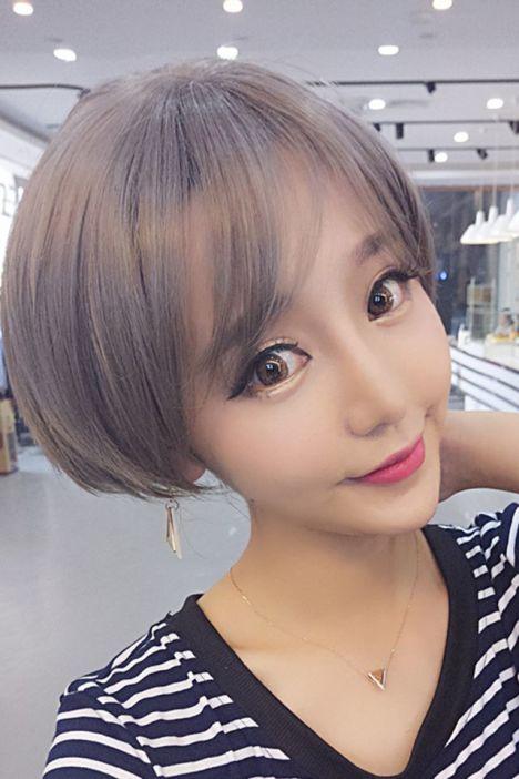 买1送3 奶奶灰假发短发韩版女生空气刘海短发日常cos假发