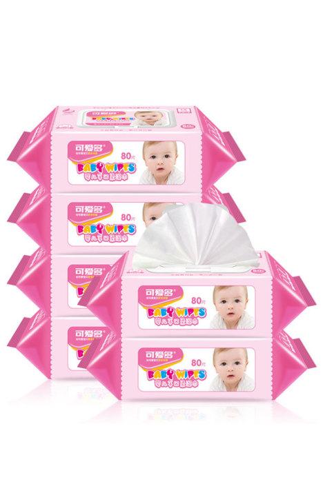 可爱多婴儿手口柔湿巾80抽(盖装)*6包