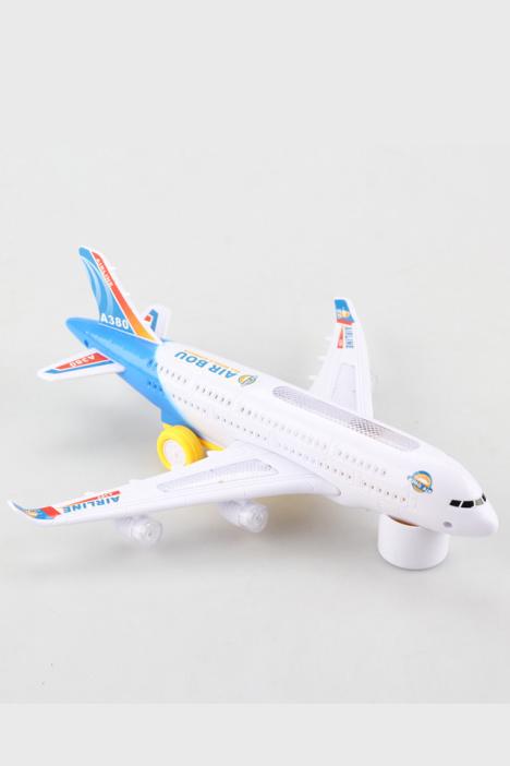 空中巴士 a380 闪光电动飞机儿童电动玩具飞机模型拼装玩具