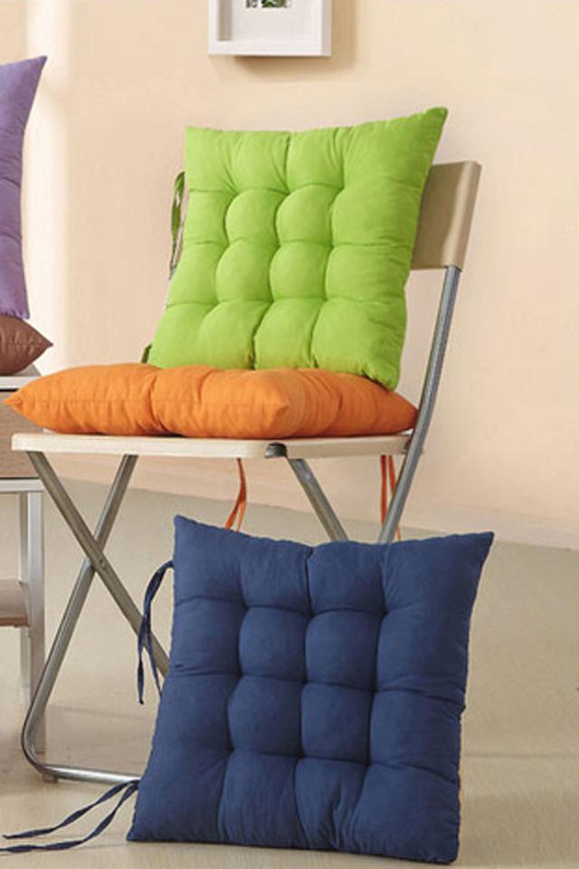 纯色加厚椅子坐垫图片