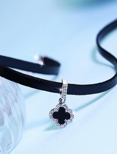 银好项圈锁骨链女颈链颈带原宿脖链脖子饰品简