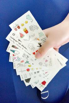 臂防水彩色图案潮流纹身贴女做英文字母贴纸$7.9-纹身图案