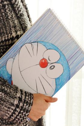 文具a4上翻线圈卡通美术绘画速写本厚素描本牛皮白纸涂鸦本子