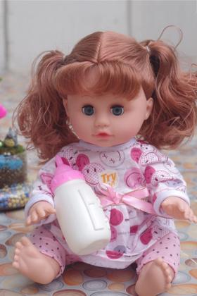 智套装抽取说话喝水尿尿真眼芭比洋娃娃积木儿童玩具婴儿娃娃仿真女孩游戏规则图片