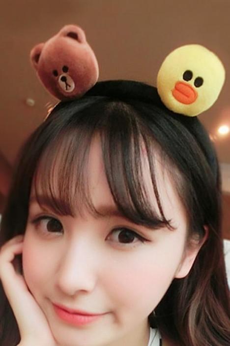 日韩发箍韩国清新可爱小熊头箍卡通小鸭发饰发夹头饰顶夹网红同款