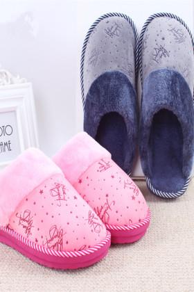 棉拖鞋女冬季家居家室内卡通可爱情侣男保暖毛托鞋