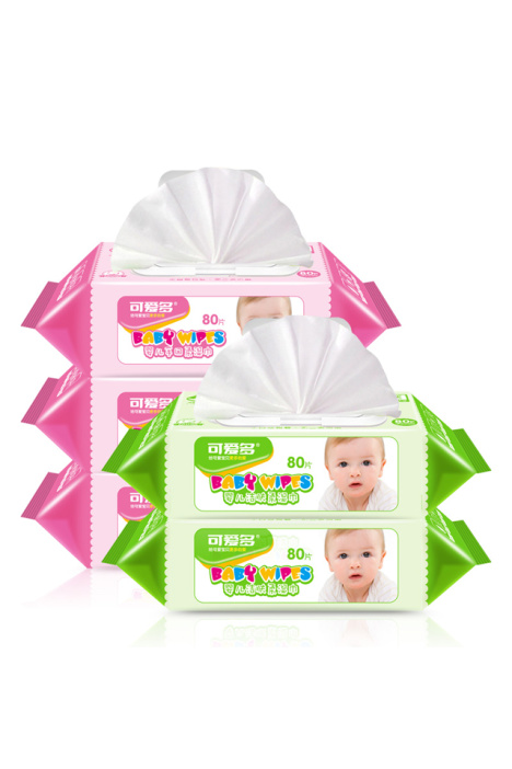 可爱多婴儿湿巾手口专用洁肤专用80抽带盖超值新生儿童宝宝湿巾