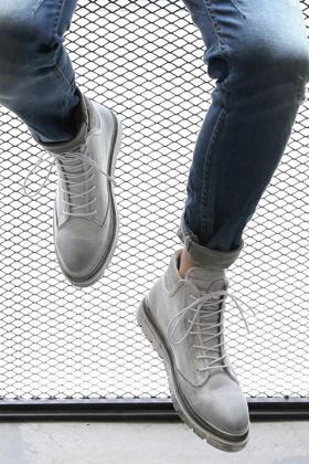 高帮鞋男真皮马丁靴搭配图片 高帮鞋男真皮马丁靴怎么搭配 高帮鞋男
