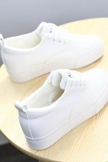 帆布鞋女内增高小白鞋_2016秋季新款帆布鞋女