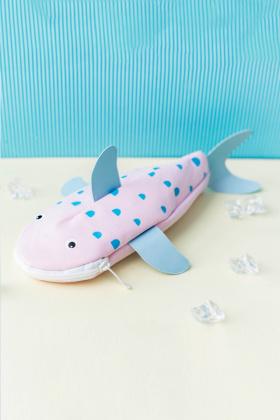 卡通动物软妹鲨鱼笔袋创意可爱小清新女生文具盒收纳袋