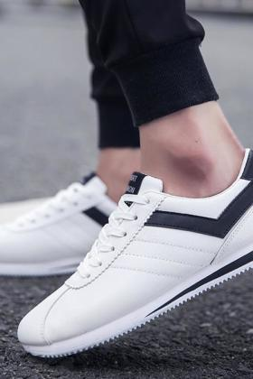 春季韩版潮流男鞋子运动休闲鞋冬季小白鞋男士青年潮鞋白色阿甘鞋$